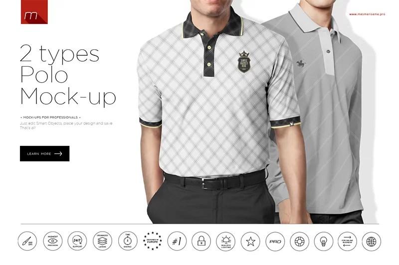 cool premium psd polo shirt mockups