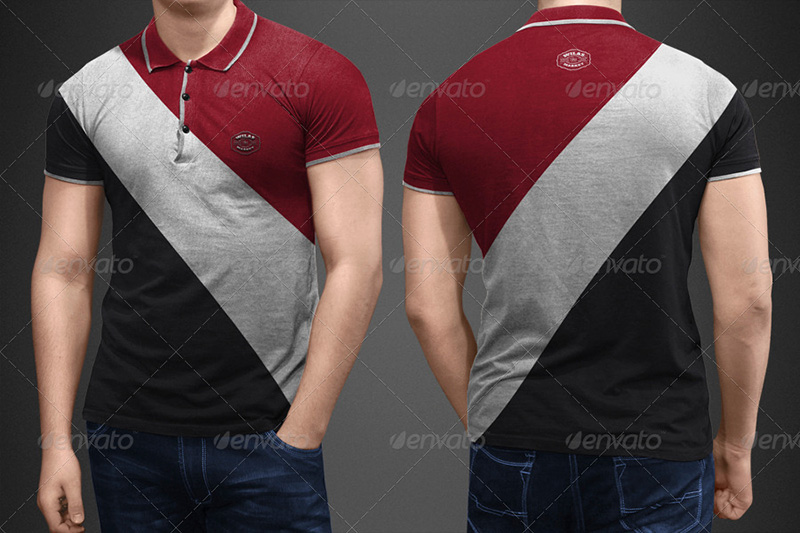 unique polo shirt mockup template premium psd for download