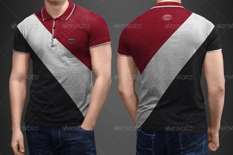 unique polo shirt mockup template premium psd for download