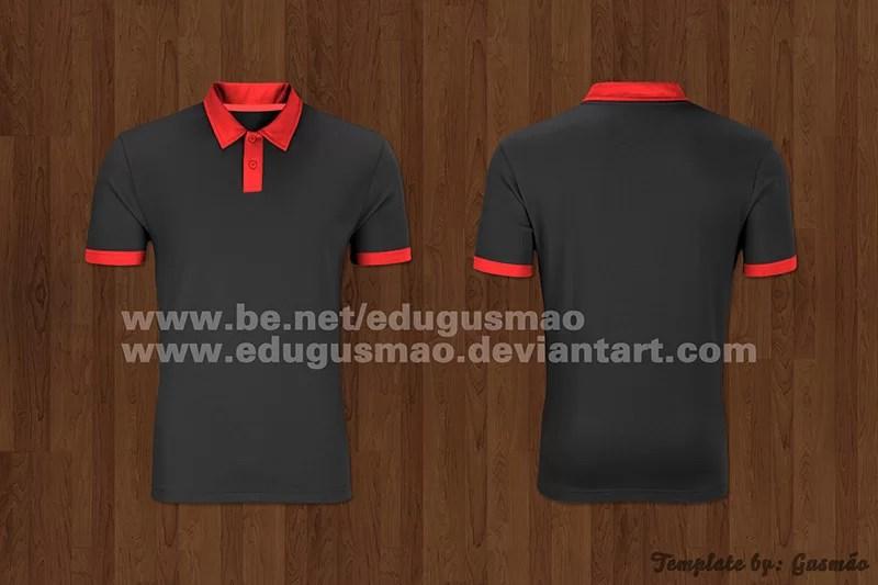 free polo shirt template psd mockup