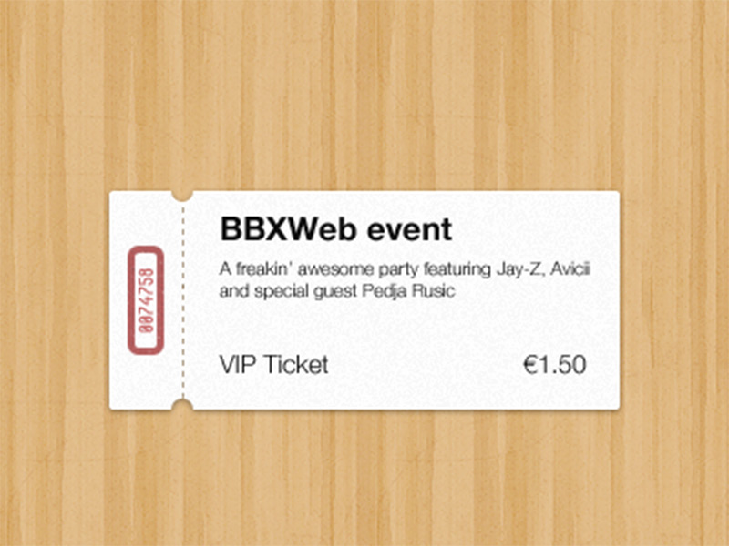 free event ticket template mockup psd