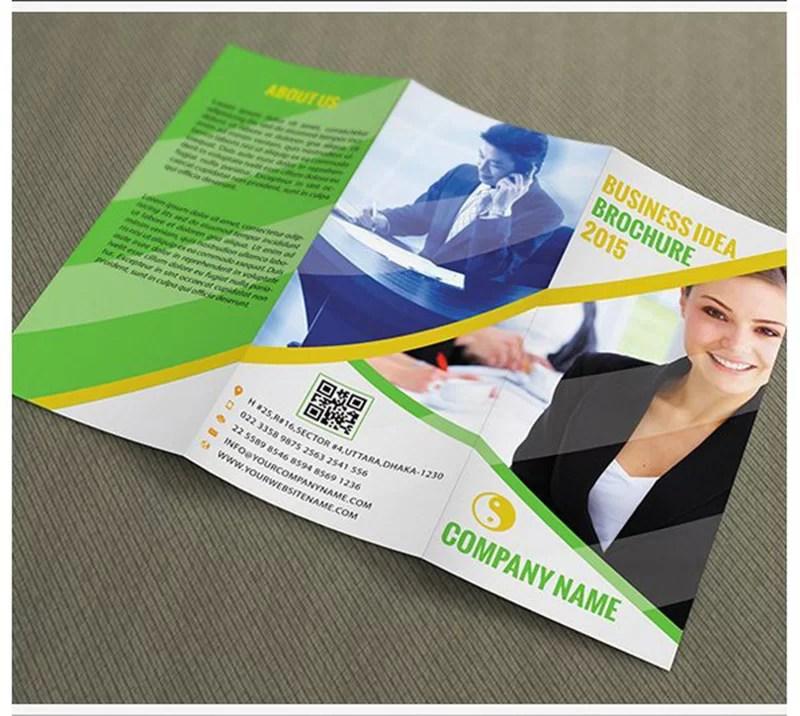 unique free design corporate brochure psd template