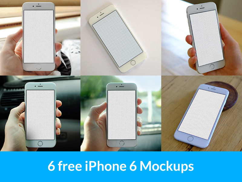 great free iphone 6 mockup psd