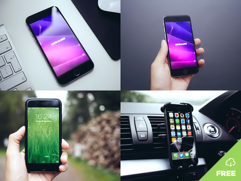 natural free iphone 6 mockup psd