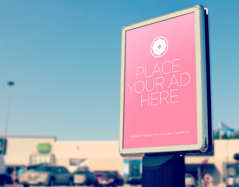 cool adorable outdoor advertising billboard mockups psd for free
