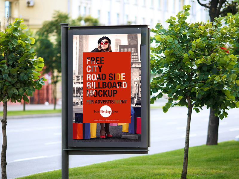 great outdoor advertising billboard mockup psd