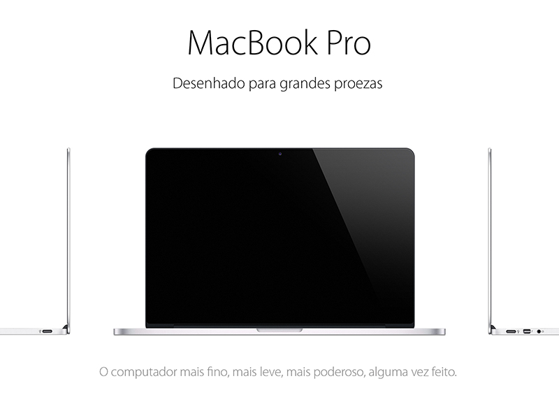 realistic MacBook Pro Mockup in PSD for free download