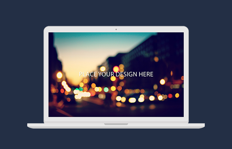 amazing MacBook Pro Mockup in PSD for free download