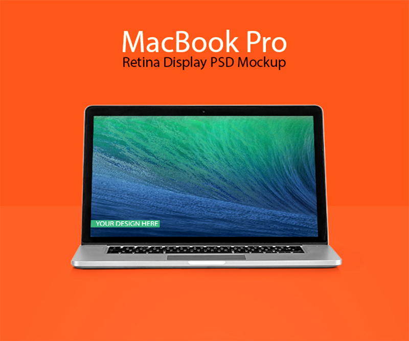 coolest MacBook Pro Mockup template in PSD