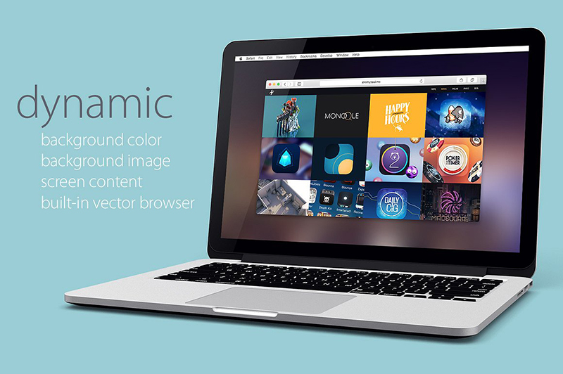 macbook pro retina premium psd template