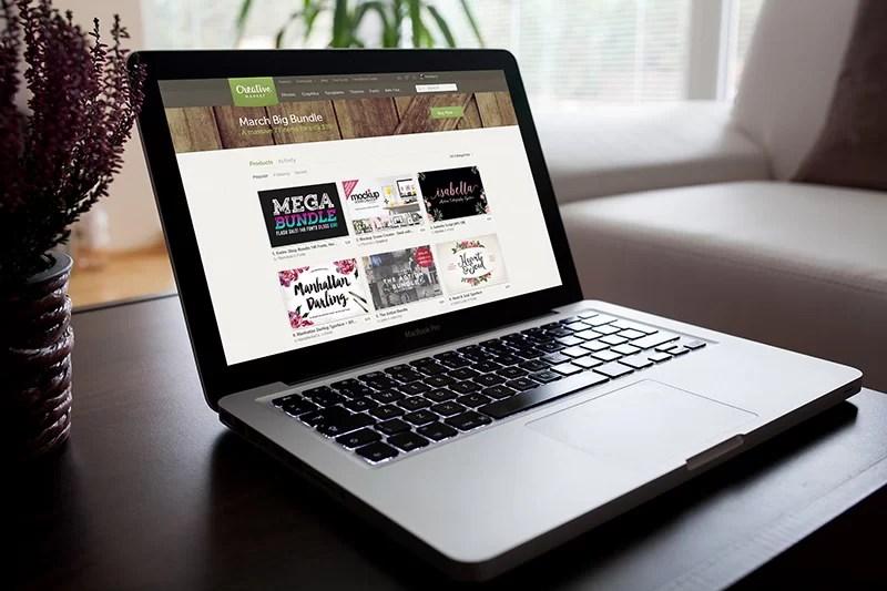 apple macbook pro template
