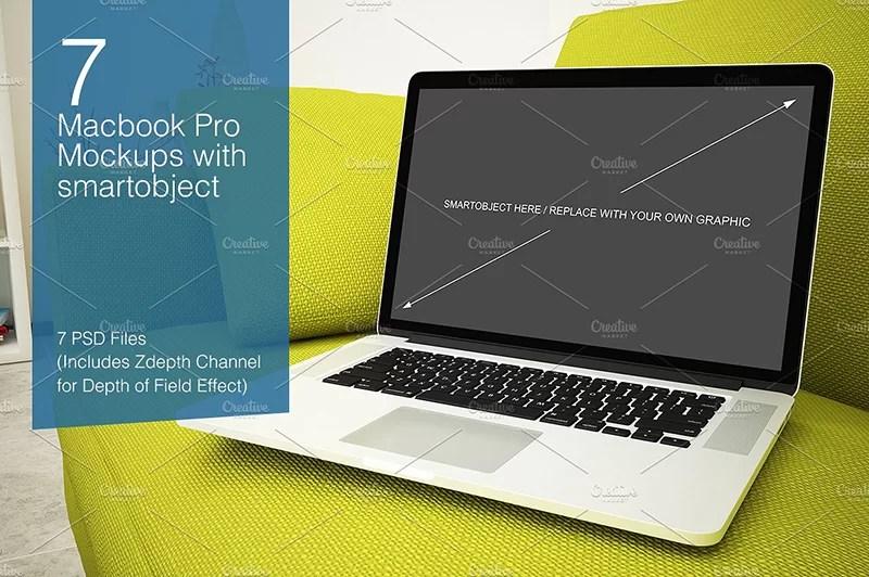 macbook pro premium mockup free