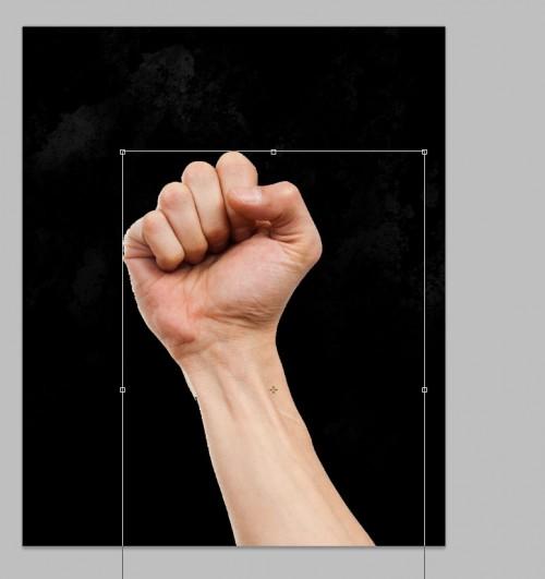 1 pasta de 500x531 Crie um braço preso com Efeito mancha de sangue no Photoshop