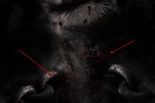 5 pintar nuvem 500x335 Crie um braço preso com Efeito mancha de sangue no Photoshop