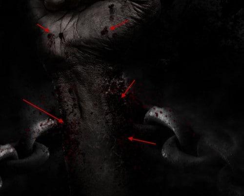 5 tinta vermelha 500x402 Crie um braço preso com Efeito mancha de sangue no Photoshop
