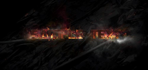 5 effect2 500x236 Create Burning Typography with Sparkles Effect in Photoshop