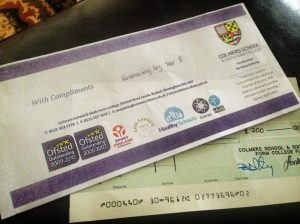 Thanks to Colmers School for their fundraising for Pseudomyxoma Survivor