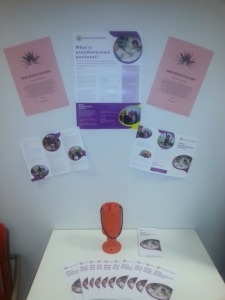 Raising awareness of pseudomyxoma peritonei at work