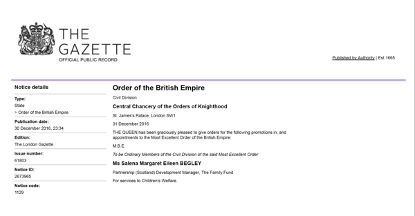 From the London Gazette https://www.thegazette.co.uk/notice/2673965