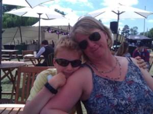 Pseudomyxoma Survivor Teresa and her son