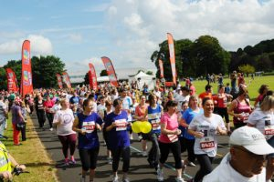 Picture by Lesley Martin (lesleymartin.co.uk) 27 July 2013 The Big Fun Run, Bellahouston Park, Glasgow. Pic: Start of there run.