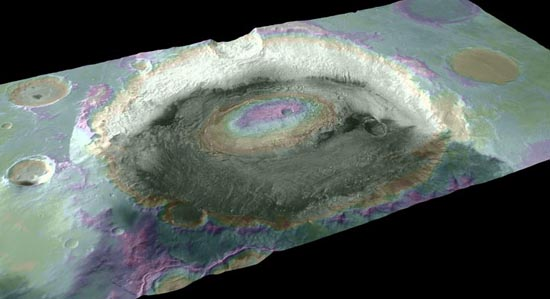 Perspective view of Crommelin crater