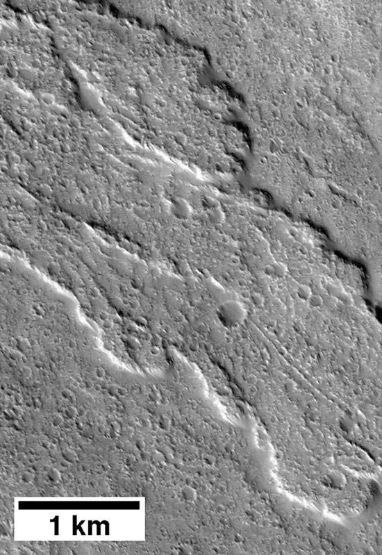 Lava Flow on Ascraeus Mons, Mars
