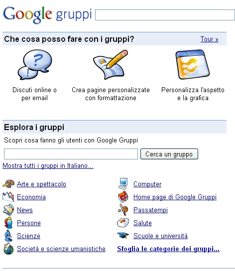 Gruppi di Discussione (Groups)