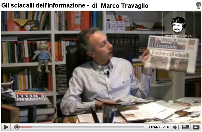 Marco Travaglio commenta terremoto del 6 Aprile 2009