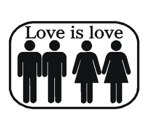 love is love decal sticker lesbian gay