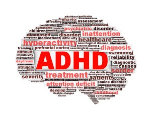ADHD symbol design isolated on white background