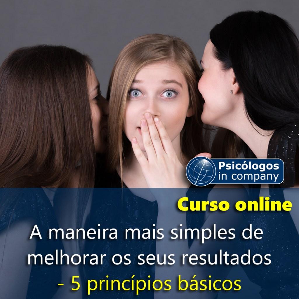 Curso online: A maneira mais simples de melhorar os seus resultados - 5 princípios básicos.