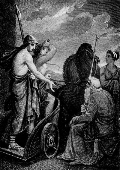 Telêmaco deixa a corte de Nestor - Por Henry Howard