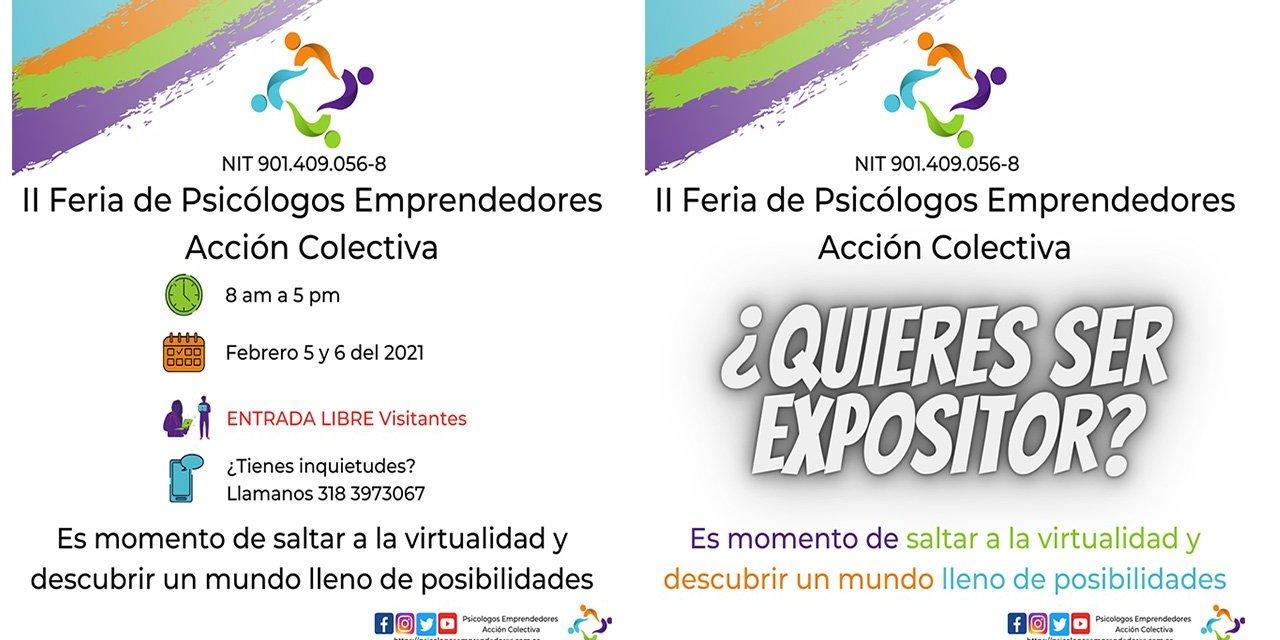 II FERIA DE PSICÓLOGOS EMPRENDEDORES – ACCIÓN COLECTIVA (ONLINE)