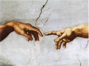 Detalle de La Creación de Miguel Ángel Buonarroti