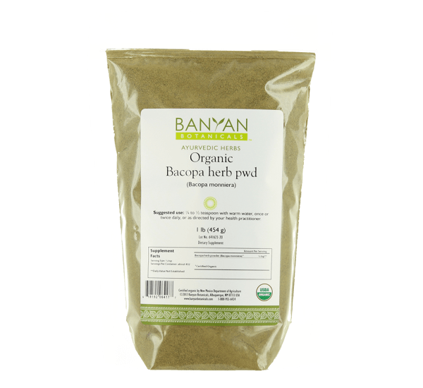 Bacopa Herb Powder 1 lb from Banyan Botanicals