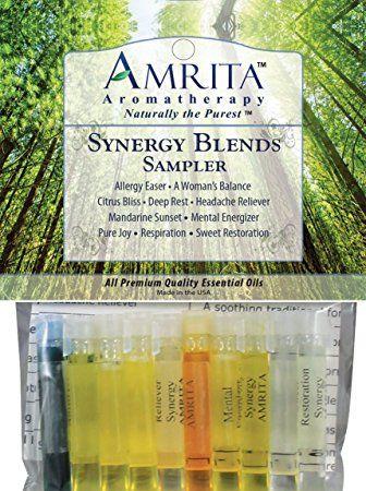 Synergy Sampler - 10, 1-ml vials - Amrita Aromatherapy