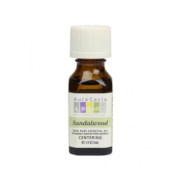 Sandalwood in Jojoba .5 oz - Aura Cacia Pure Essential Oils