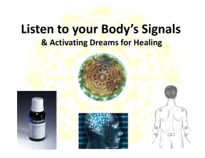 Signals of the Body & Activating Dreams for Healing @ Psinergy Natural Health & Holistic Wellness