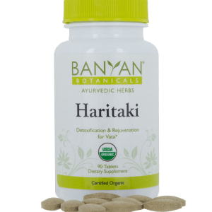 Haritaki 500 mg 90 tabs - Banyan Botanicals