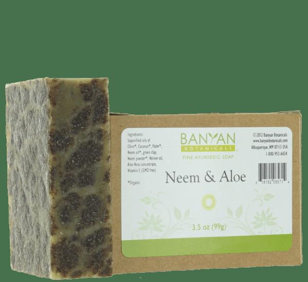Neem Aloe Soap 3.5 oz - Banyan Botanicals