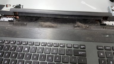 Hair ball in vents not allowing computer to breath