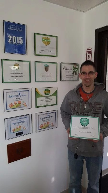 André receiving 2016 Angie's List award for Computer Repair & Service