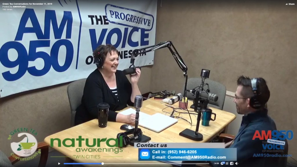 Andre on AM950 talking with Candi Broffle in studio - 2019/11-21