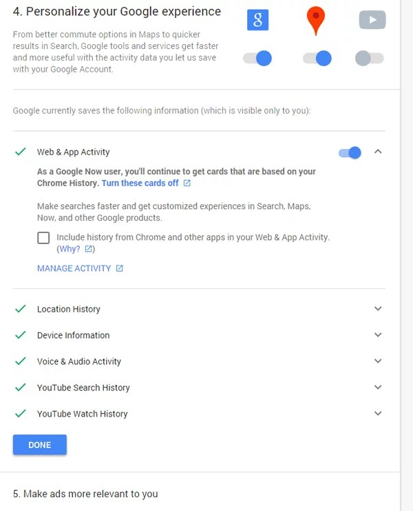 Personalize your Google experience