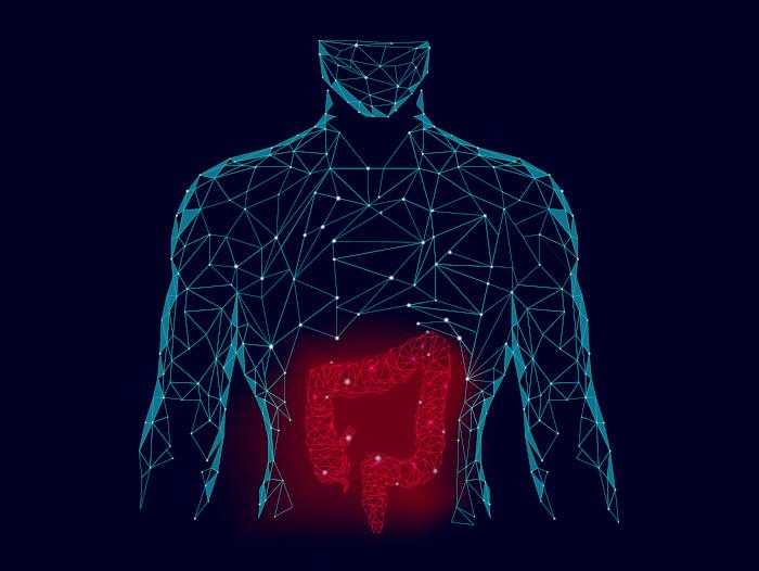 ilustração sobre microbiota intestinal e transtornos do humor