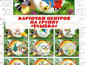 Карточки центров на группу Улыбка, Художники (без надписи)