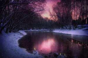 winter lake purple