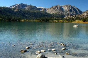lake with rocks and mountains