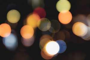 blurry holiday lights